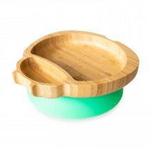 Ladybird Plate with suction base - Green