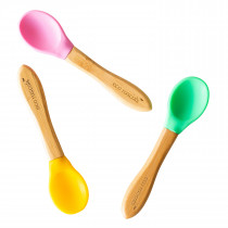 3 x Spoons - Pink,Green,Yellow