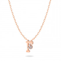 Baby Initial Pendant  Letter F, ف