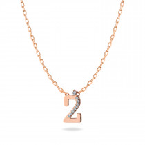 Baby Initial Pendant Letter Z, ز