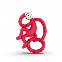 Mini Monkey Teether - Rubine