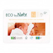 Naty Diapers  - Newborn - 4-5 Kg - (25 pcs)