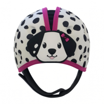 Soft Helmet For Babies Learning To Walk - Dalmation Pink
