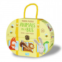 Travel Puzzle Animals -On A Bus