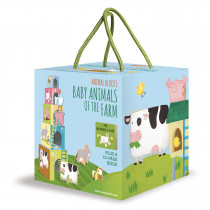 Animal Blocks And Book -Baby Animals Of The Farm