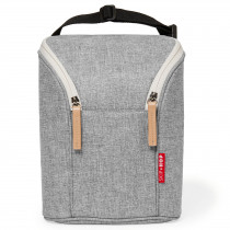 Grab & Go Double Bottle Bag - Grey Melange