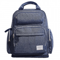 Extendable Diaper Backpack - Navy Blue