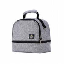 Insulated Bottle and Lunch Bag - Grey