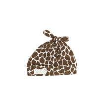 Cotton Double Knot Hat - Brown Giraffe