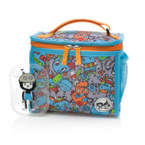 Zipped Lunch Bag & Ice Pack − Robot Blue