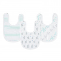 Essentials 3 Pack Little Bibs - Baby Star