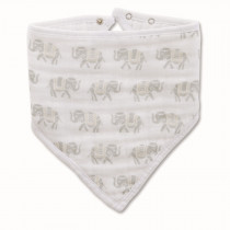 Classic Bandana Bib - Tea Savanna Animals