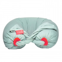 Pregnancy Pillow in Eucalyptus / Coral