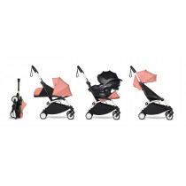 all-in-one BABYZEN stroller YOYO2 0+, car seat and 6+ White Frame & Ginger