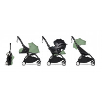 all-in-one BABYZEN stroller YOYO2 0+, car seat and 6+  Black Frame & Peppermint