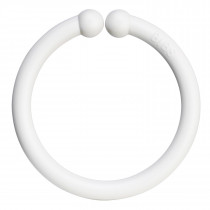 Bibs Loops 0-3 Years - 12 pcs Play Rings - White