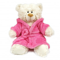Teddy Cream with Pink Hoodie