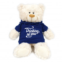 Cream Bear with Thinking of You on Blue