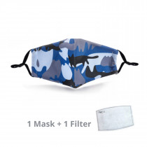 Kids Face Mask Cameo Blue