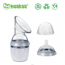 Haakaa Generation 3 - Silicone Breast Pump & Bottle Set - 160Ml - Grey