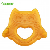 Natural Rubber Owl Teether Smile