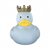 Bath Toy-XXL  Duck with Crown, 25 cm - Blue