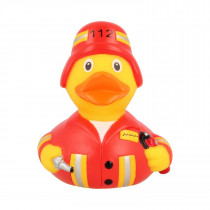 Bath Toy-Fireman Duck-Red