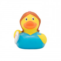 Bath Toy-Surfer Girl Duck - Blue/yellow