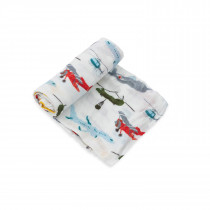 Deluxe Muslin Swaddle Single - Air Show