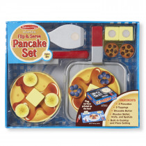 Wooden Flip & Serve Pancake Set