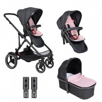 Voyager Buggy & Carrycot - Twin Package - Blush