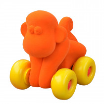 Soft Baby Educational  Toy-Aniwheelies Monkey Small-Orange