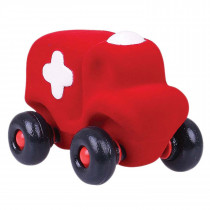 Soft Baby Educational Toy-Hopkins the Little Ambulance -Red