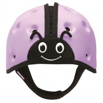 Soft Helmet For Babies Learning To Walk - Ladybird Purple