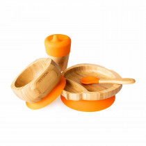 Ladybird Plate, Feeder Cup, Bowl & Spoon combo in Orange