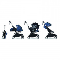all-in-one BABYZEN stroller YOYO2 0+, car seat and 6+ White Frame & Air France Blue