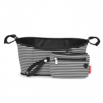 Grab & Go Stroller Organizer-Black/White Stripes
