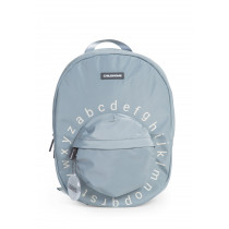 Kids School Backpack ABC  Grey Off White
