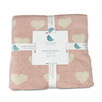 Knitted Baby Blanket - Hearts