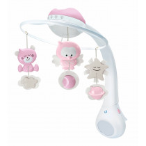 3 IN 1 PROJECTOR MUSICAL MOBILE (PINK)