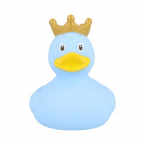 Bath Toy-Mini Rubber Duck with Crown -Blue