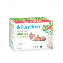 PureBorn New born value 0 to 4.5 kg 136's - Flowers