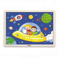 Wooden Puzzle -Space (16 pcs)