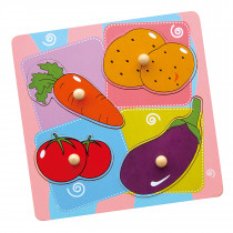 Wooden Flat Puzzle - Vegetables