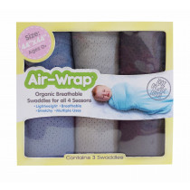 Old Fashioned Air Wrap - Medium Blue, Light Gray, Medium Charcoal