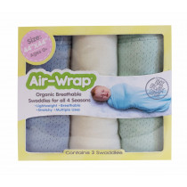Old Fashioned Air Wrap - Light Blue, Cream, Mint