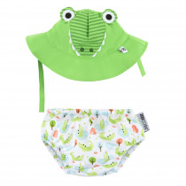 Baby Swim Diaper & Sun Hat Set - Alligator